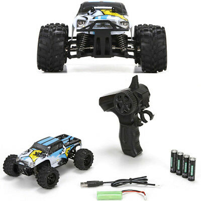 ECX RC ECX00013T1 1/24 Ruckus 4WD Monster Truck RTR, Black/White w/ Radio