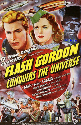 Flash Gordon Conquers the Universe - Movie Cliffhanger Serial DVD Buster Crabbe