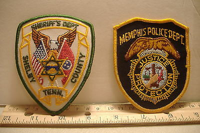 ~Memphis Police Dept. & Shelby County Sheriff's Dept~Tennessee Patches~