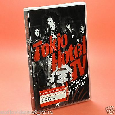 TOKIO HOTEL CAUGHT ON CAMERA DVD HISTORY THE VERY BEST OF TH TV nuovo