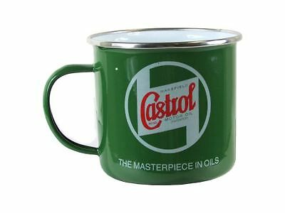 New Genuine Boxed Castrol Classic Enamelled Tin Mug - Ideal Gift