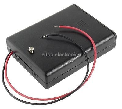 AAA R03 Battery Holder Enclosed Box Case for 2x, 3x or 4x AAA Cells with Leads
