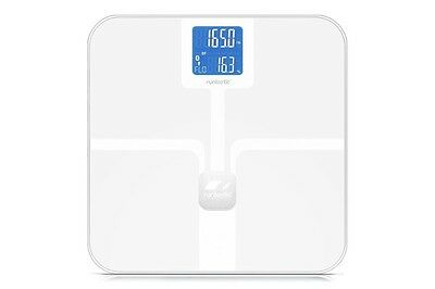 Runtastic Libra Body Weight Scales - BMI, BMR, AMR & more - White RRP $179.95