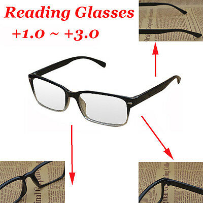 Hot Frame Magnifying Reading Glasses Nerd Spectacle Strength +1.0~+3.0