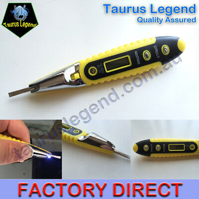 AC/DC LED Digital Voltage Tester Pen Sensor Electric Detecting Screwdriver+Light
