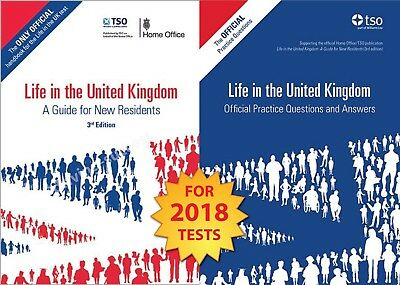 Life in the UK United Kingdom 2017 - 2 Book Set British Citizenship Test