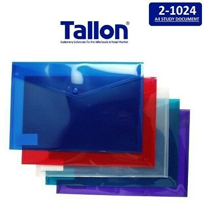 A4 Plastic Study Document Wallets Folders Filing School Office - 0262