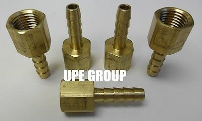 (5 Pieces) 1/4 HOSE BARB X 1/4 FEMALE NPT Brass Pipe Fitting Gas Fuel Water Air