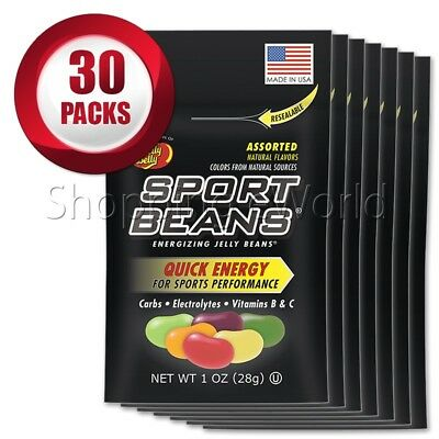 ASSORTED Energizing SPORT BEANS ~ Jelly Belly ~ 30 Packs ~ Guaranteed Fresh