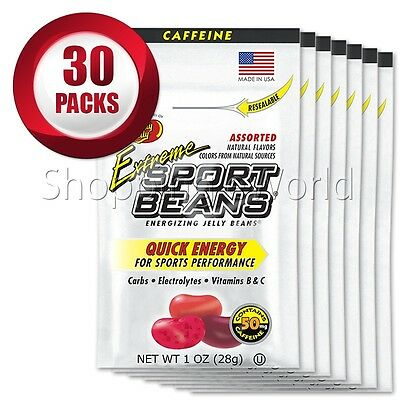 EXTREME ASSORTED Energizing SPORT BEANS ~ Jelly Belly 30 Packs Guaranteed Fresh