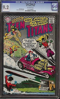 Teen Titans # 3 CGC 9.2 OW pages