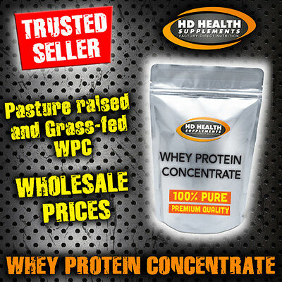 2Kg Pure Whey Protein Concentrate Powder | Raw & Unflavoured Grass Fed Wpc