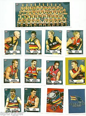 2001 Team & Player Sticker Collection ADELAIDE (20 Stickers)