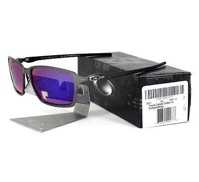 94fc89d05b Oakley OO 6017-03 POLARIZED TINCAN Carbon OO Red Iridium Mens Sunglasses  Rare