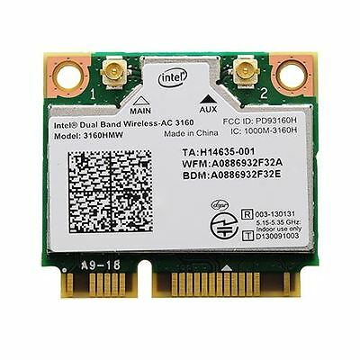 Intel Dual Band Wirelss-AC 3160 WIFI+Bluetooth Combo Mini PCI-E Card 3160HMW