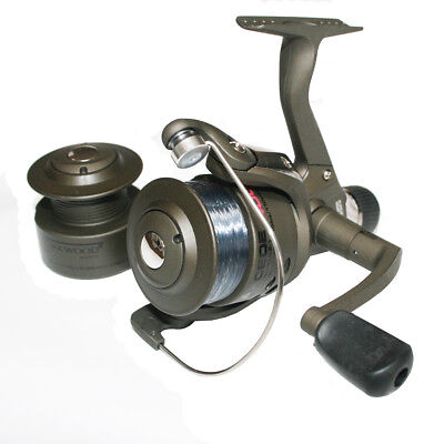 Shakespeare Omni 40 RD Fixed Spool Fishing Reel With Line & Spare Spool
