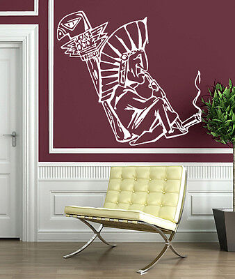Wall Stickers Indian Peace Pipe Tobacco Calumet Religion Hist Vinyl Decal (n317)
