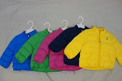 $145 NWT Ralph Lauren Baby Quilted Puffer Jacket Coat All Clrs Sz 9 12 18 months