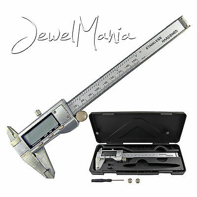 "6"" 150mm Digital Stainless Steel Caliper Electronic Micrometer LCD Gauge Tool"