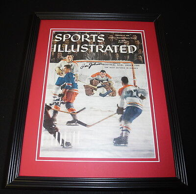 Tom Johnson Signed Framed 1958 Sports Illustrated Magazine Cover Canadiens