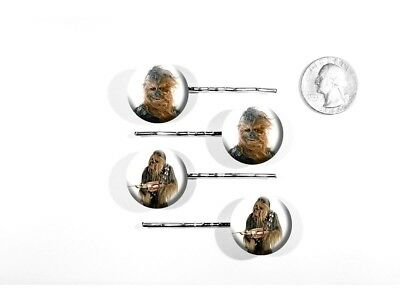 Chewbacca Star Wars Character Han Solo's Buddy Set of 4 Bobby Pins
