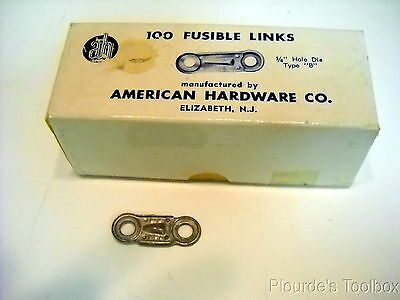 "Lot of (2) New American Hardware Fusible Links, 212 Degrees, Type ""B"", 1/4"" Hole"