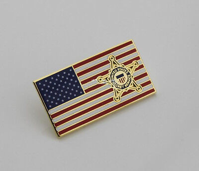 United States Secret Service Lapel-Hat-Pin-American-Flag badge