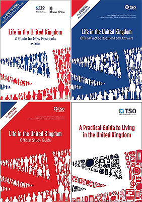 The Complete Set Of 4 Official Life In The Uk Study Books