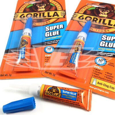 GORILLA SUPER GLUE 3g ANTI CLOG HIGH STRENGTH REINFORCED RUBBER STRENGTH