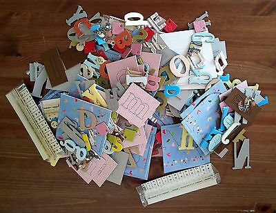 Huge Lot Alphabet Letter Chipboard, Foam, Plastic Over 400