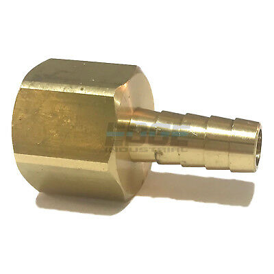 3/8 HOSE BARB X 1/2  FEMALE NPT Brass Pipe Fitting NPT Thread Gas Fuel Water Air