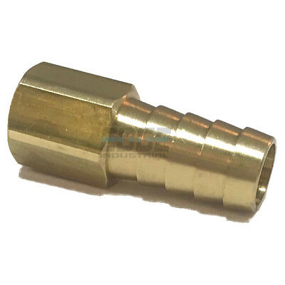 1/2 HOSE BARB X 1/4  FEMALE NPT Brass Pipe Fitting NPT Thread Gas Fuel Water Air