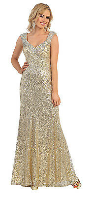 Fully Sequins Beaded Thick Strap Fitted Plus Size Formal Prom Long Dress Sexy