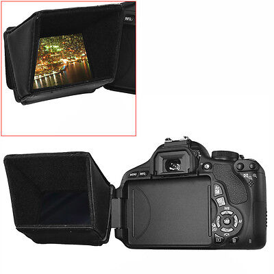 """Neewer 3.5"""" Collapsible LCD Screen Sun Shield Hood for DSLR Cameras"""