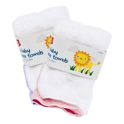 3 Pcs Pack Baby Face Towels Bath Flannel Wash Cloth Wipe - Assorted Colour