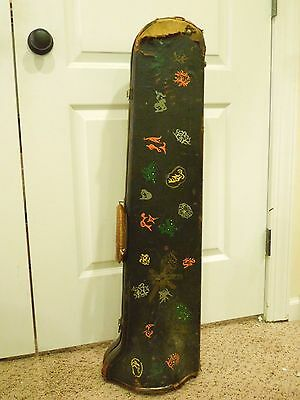Vintage Trombone Hard Case with Painted Designs