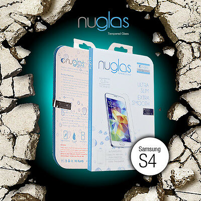 Genuine Nuglas Tempered Glass Screen Protector for Samsung Galaxy S4 9H Hardness