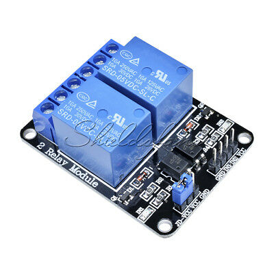 5V Two 2 Channel Relay Module With Optocoupler For AVR PIC DSP ARM Arduino