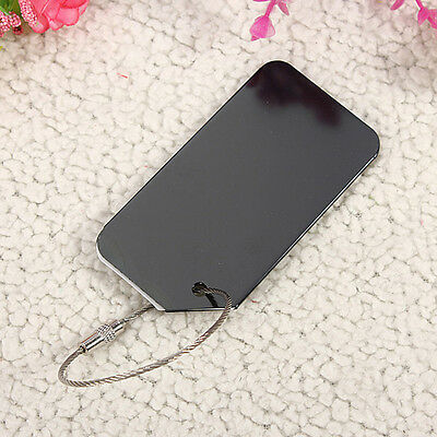Black Aluminium Anti-lost Travel Luggage Tag Backpack Baggage Name  ID Label