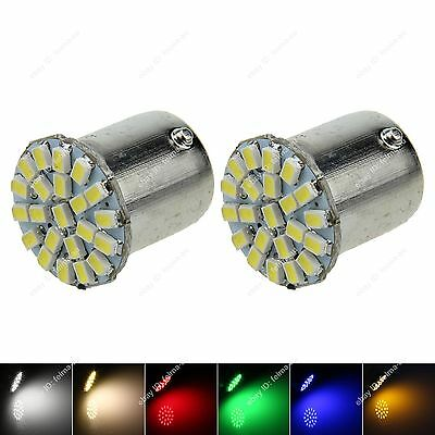 2x 1156 22 1206 SMD LED Car Light Turning Signal Wedge Side Lamp Bulbs