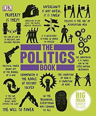 The Politics Book by  New Hardback Book