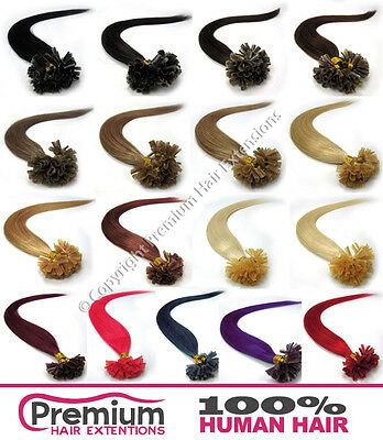 100s Keratin Pre Bonded 100% Remy Human Hair Extensions Nail U Tip 6A QUALITY