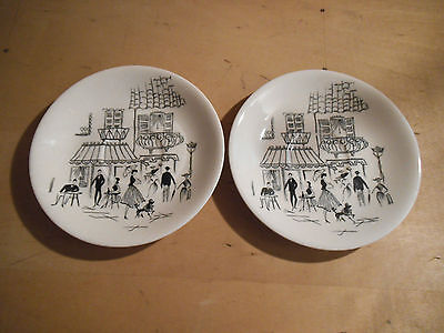 Two Vintage Alfred Meakin Saucers - Parisienne Design - c. 1950's