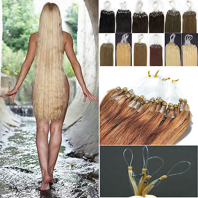 Micro Ring Loop 100% Remy Human Hair Extensions PROFESSIONAL SALON QUALITY 6A