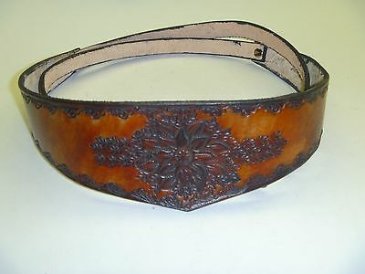 Floral Medallion Fashion Belt - Brown