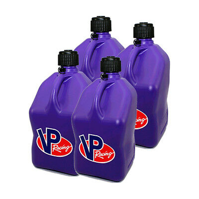 4 VP Racing Purple 5 Gallon Square Fuel Jugs / Water Container / Jerry Gas Can