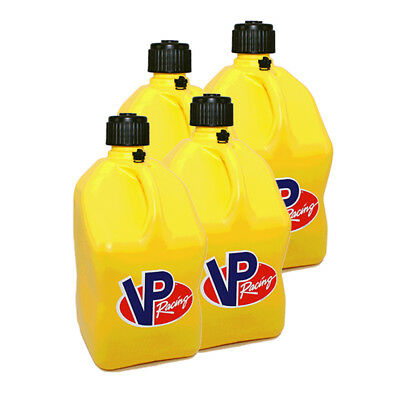 4 VP Racing Yellow 5 Gallon Square Fuel Jugs / Water Container / Jerry Gas Can