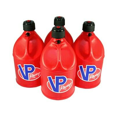 4 VP Racing Red 5 Gallon Round Fuel Jug/Utility Water Container/Jerry Gas Can