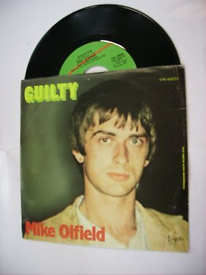 """Mike Oldfield - Guilty - 7"""" Vinyl 1979 Italy Press Excellent Condition"""
