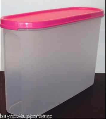 Tupperware Modular Mates 11-3/4 Cup Super Oval #3 Container & Pink Seal New